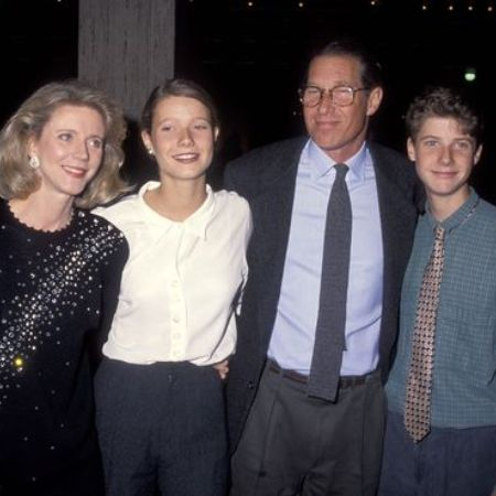 Jake Paltrow with his family