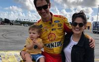 Joey Logano's Son Hudson Joseph Logano With Wife Brittany Baca – Pictures and Facts