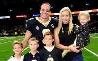 NFL's Drew Brees' Daughter Rylen Judith Brees With His Wife Brittany Brees