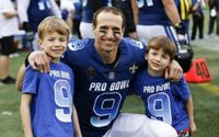 NFL's Drew Brees' Son Callen Christian Brees With His Wife Brittany Brees
