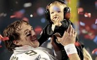 NFL's Drew Brees' Cute Son Baylen Robert Brees With His Wife Brittany Brees